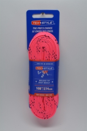 """Cotton laces with """"double"""" black stripe 72"""" in Pink (Package of 12 pairs)"""