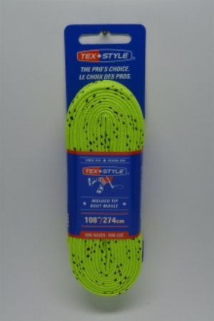 """Cotton laces with """"double"""" black stripe 72"""" in Lime Green (Package of 12 pairs)"""