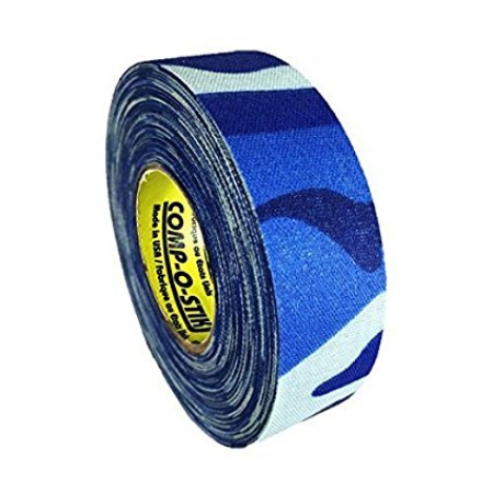 Pack of 6 Coloured Cloth Tape (24mm x 25m) - Blue Camo