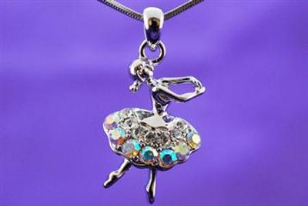 Ballerina Pendant with Chain