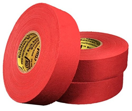 Pack of 6 Coloured Cloth Tape (24mm x 25m) - Red