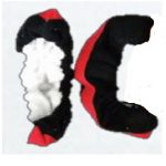 Polar Fleece Terry with walk strip - Red