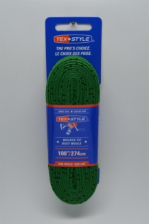"""Cotton laces with """"double"""" black stripe 84"""" in Dark Green (Package of 12 pairs)"""