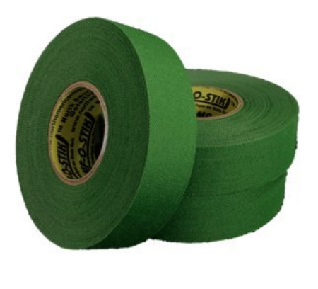 Pack of 6 Coloured Cloth Tape (24mm x 25m) - Green