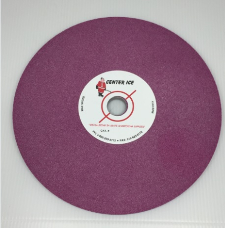 """Ruby 80 Grit 8"""" x 5/16"""" x 3/4"""" Fleming Gray Table Top Grinding Wheel"""