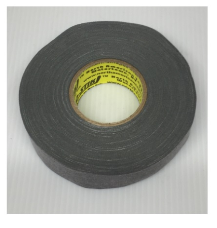 Pack of 6 Coloured Cloth Tape (24mm x 25m) - Grey