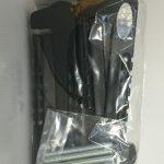 2pc adjustable plastic skate guard - Black