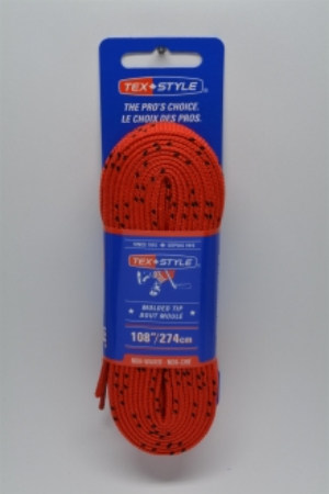 """Cotton laces with """"double"""" black stripe 72"""" in Red (Package of 12 pairs)"""