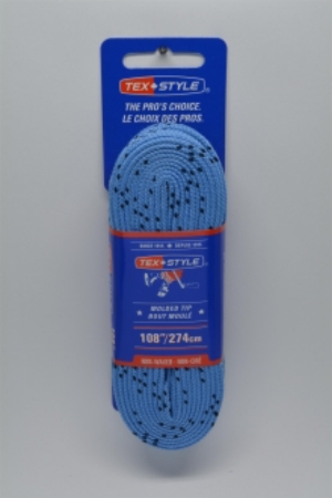 """Cotton laces with """"double"""" black stripe 72"""" in Light Blue (Package of 12 pairs)"""