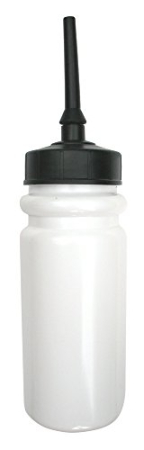 600ml water bottle with flexible extended tip