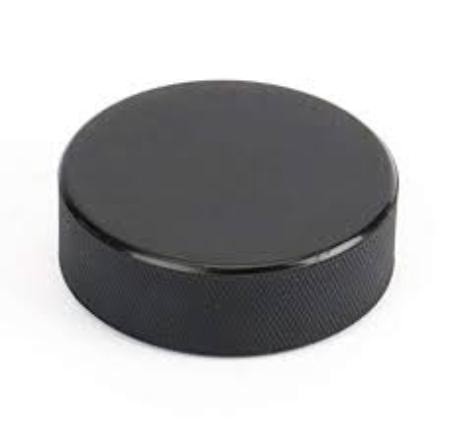 Official 6oz. Plain black hockey puck