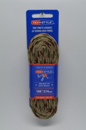 """Cotton laces with """"double"""" black stripe 72"""" in Sand Camo (Package of 12 pairs)"""