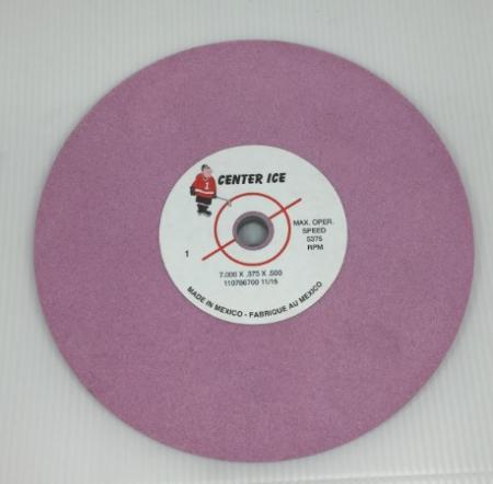 "Pink 7"" x 3/8"" x 1/2"" Wissotta Grinding Wheel"