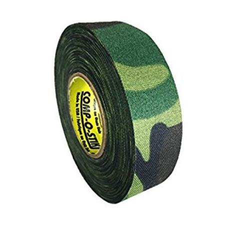 Pack of 6 Coloured Cloth Tape (24mm x 25m) - Green Camo