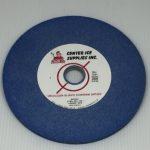 "Blue 80 Grit 6"" x 1/4"" x 3/4"" Fleming Gray B2/B3 Swinging Arm Grinding Wheel"