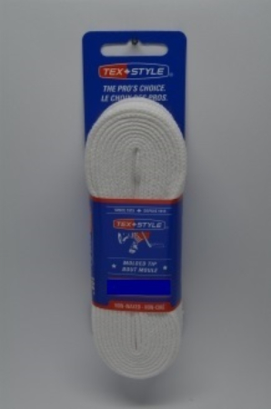 """Referee plain white spun 100% polyester 84"""" (Package of 24 pairs)"""