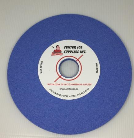 "Blue 80 Grit 8"" x 5/16"" x 1-1/4"" Grinding Wheel"