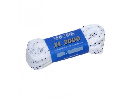 """White spun polyester with """"double"""" blue stripe 72"""" (Package of 24 pairs)"""