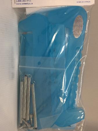 2pc adjustable plastic Skate guard - Ice Blue *NEW*