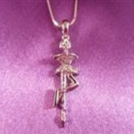 Skater Silver Pendant (Scratch Spin) with Chain